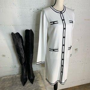 Karl Lagerfeld Cadigan Midi Sweater Dress